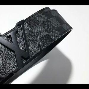 New Men's Louis Vuitton Belt Black 40|100 w/ Box